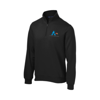 Men's Black Quarter Zip Pullover